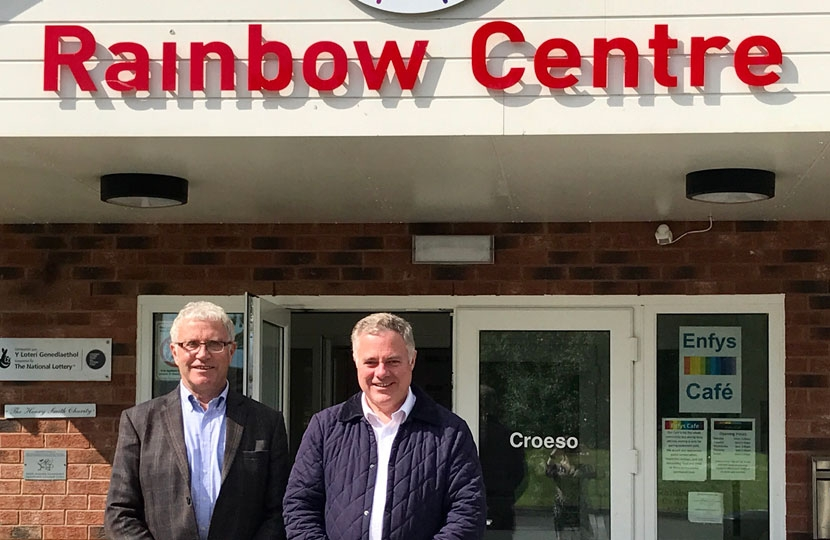 Rainbow Centre Trustee Cllr Rodney Skelland and Simon Baynes